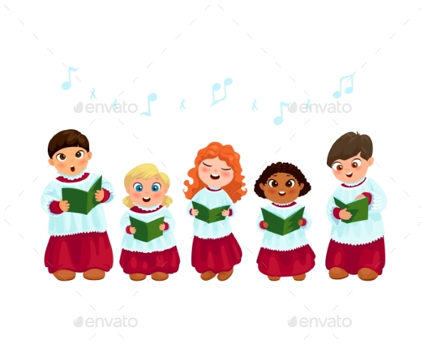 Caroling Kids Set - Christmas Seasons/Holidays