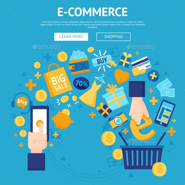 E-commerce Online Shop Webpage Design - Business Conceptual
