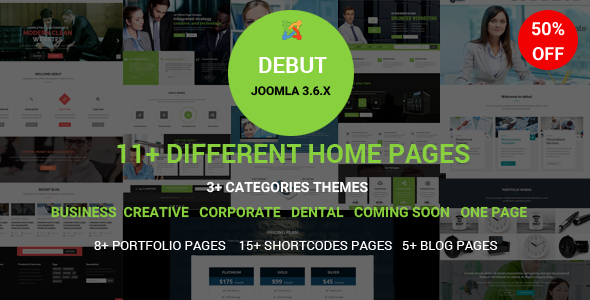 Debut – The Multi-Purpose Responsive Joomla Theme