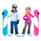 Snowboarders Boy and Girl - GraphicRiver Item for Sale