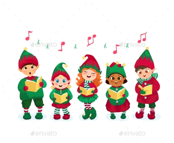 Caroling Kids Set - Christmas Seasons/Holidays