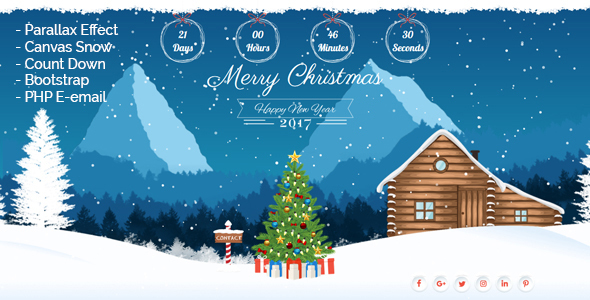 Christmas Landing Page - Site Templates