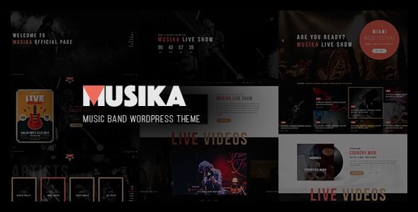 Musika – Music Festival & Band WordPress Theme