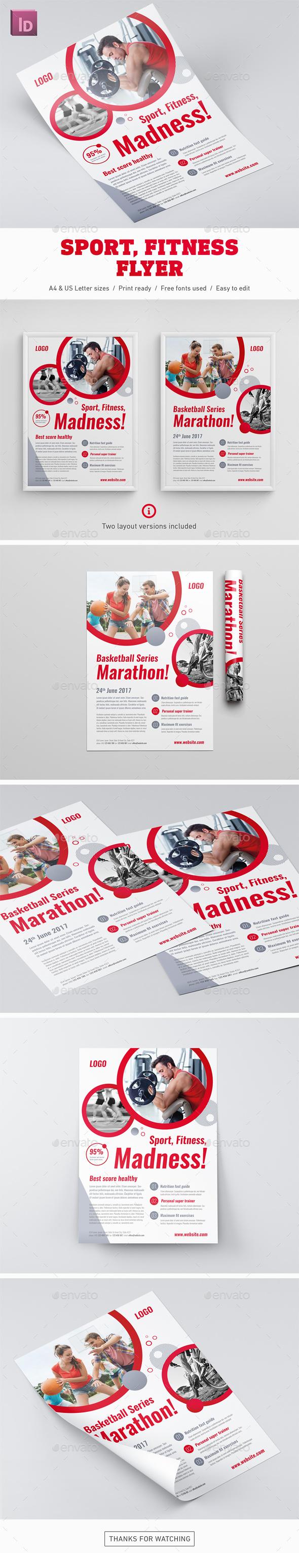 Sport Fitness Flyer - Corporate Flyers