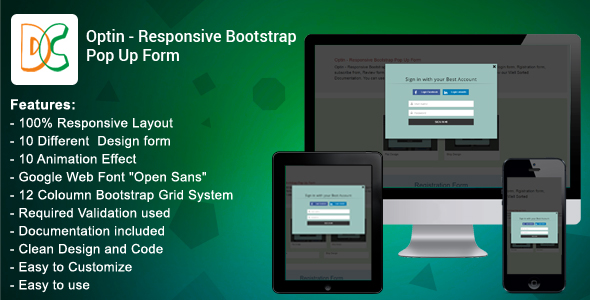 Optin - Responsive Bootstrap Pop Up Form - CodeCanyon Item for Sale