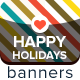 Happy Holidays Banners - GraphicRiver Item for Sale