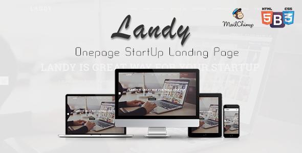 Landy – Onepage Startup Landing Page