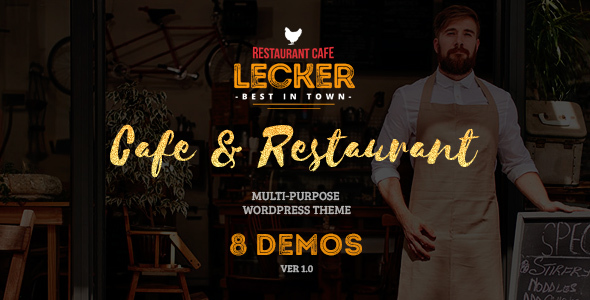 Cafe & Restaurant Theme | Lecker Restaurant