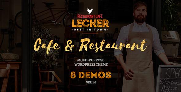 Cafe & Restaurant Theme   Lecker Restaurant