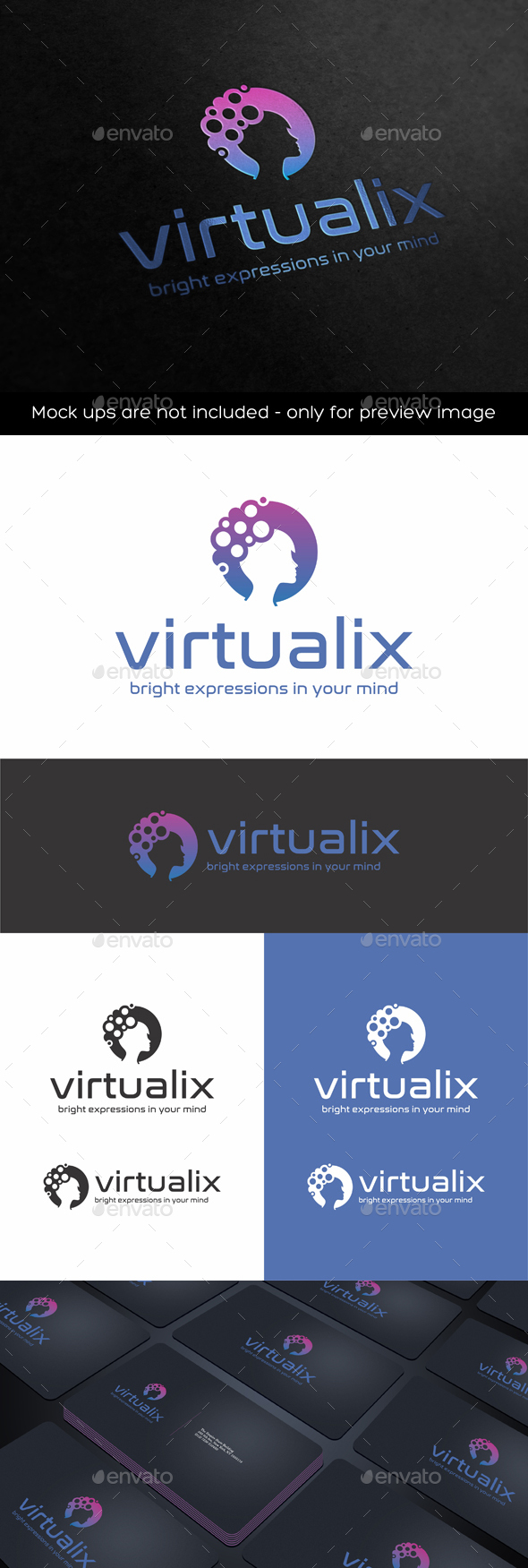 Virtualix Logo - Humans Logo Templates
