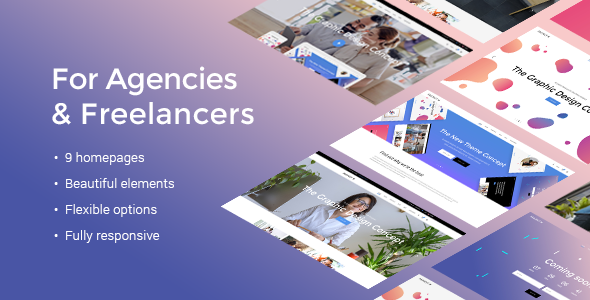Fuzion – A Fresh Theme for Design Agencies & Freelancers
