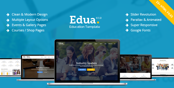 Edua - Educational HTML5 Template - Business Corporate