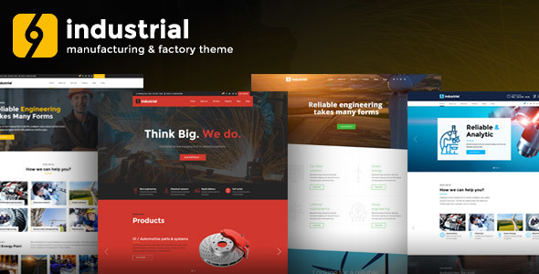Industrial – Manufacturing & Factory WordPress Theme