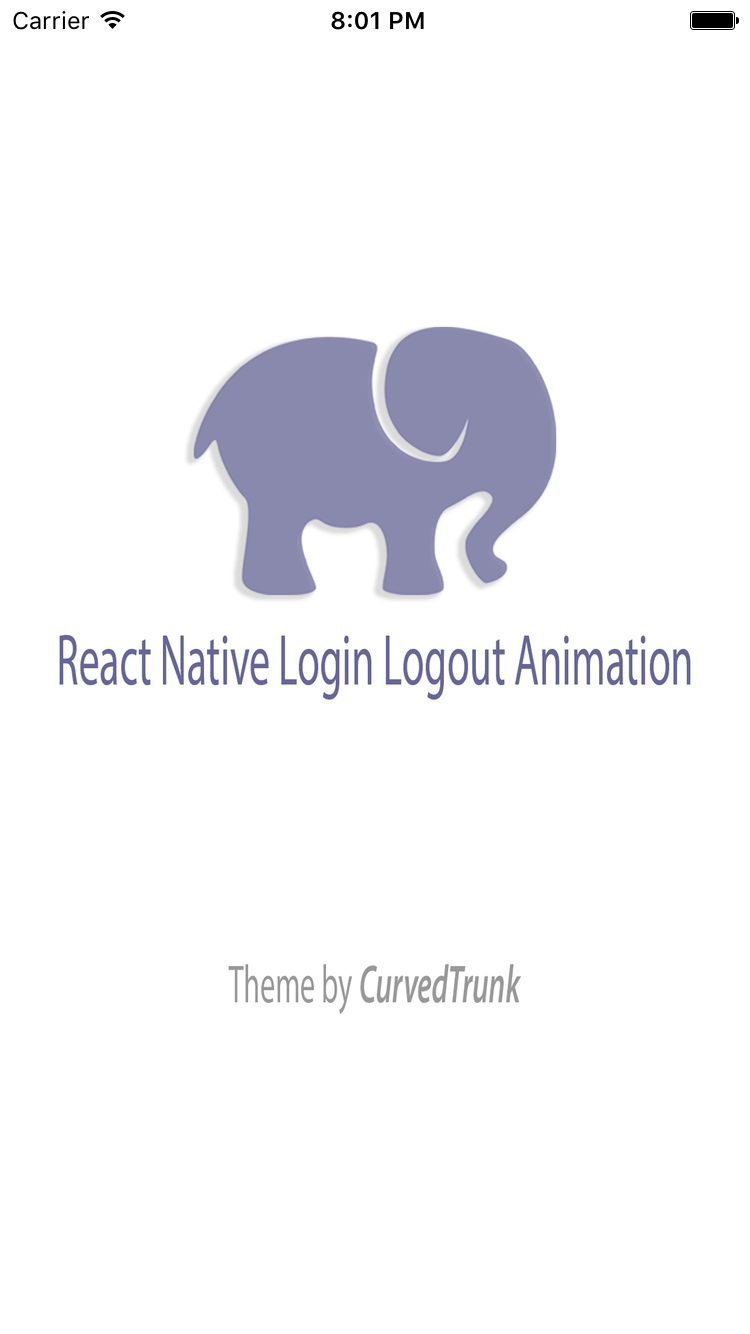 react native login logout animation by curvedtrunk codecanyon. Black Bedroom Furniture Sets. Home Design Ideas