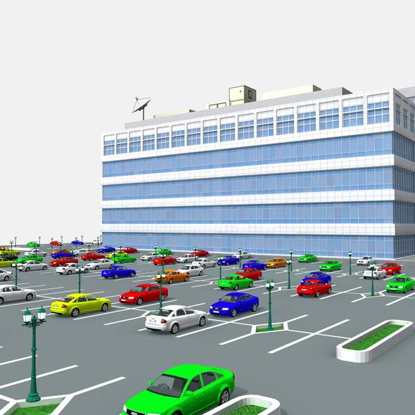 Modern Office Building 525 Almanor Ave - 3DOcean Item for Sale