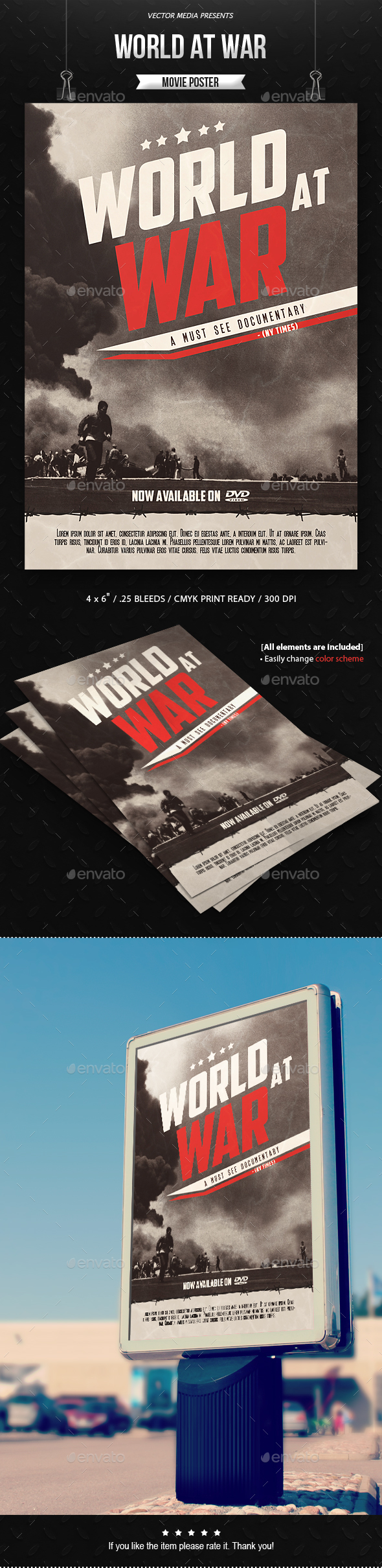 World at War - Movie Poster - Miscellaneous Events
