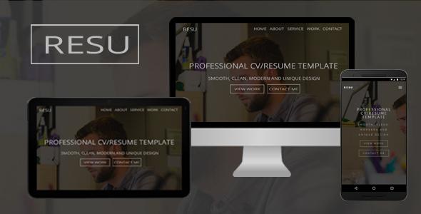 Resu - Personal Portfolio Template - Personal Site Templates