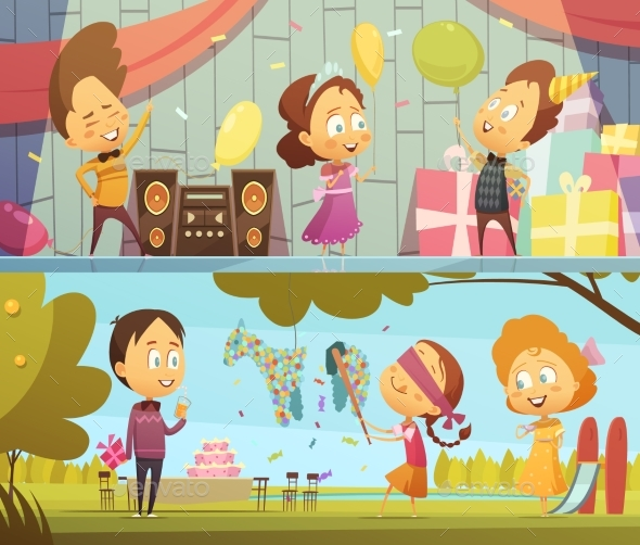 Kids Party Banners - Birthdays Seasons/Holidays