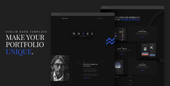 Violin Dark – Portfolio HTML5/CSS3 Template