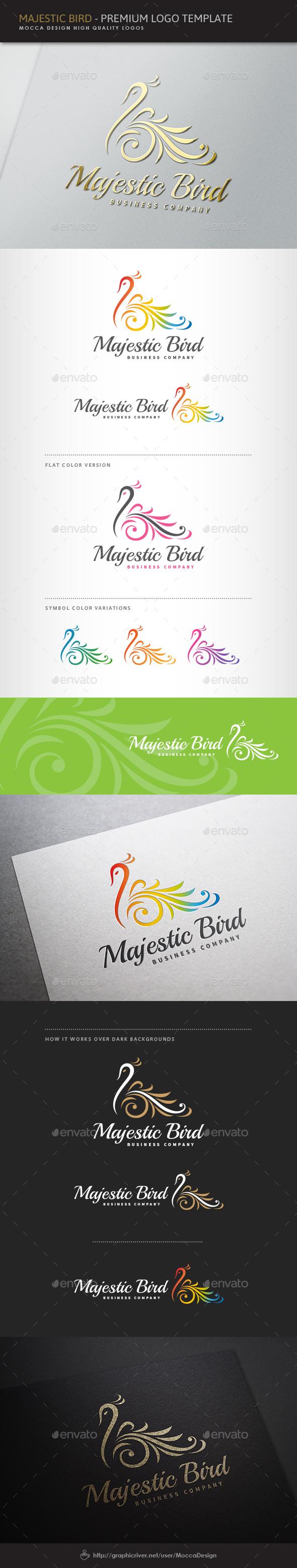 Majestic Bird Logo - Animals Logo Templates