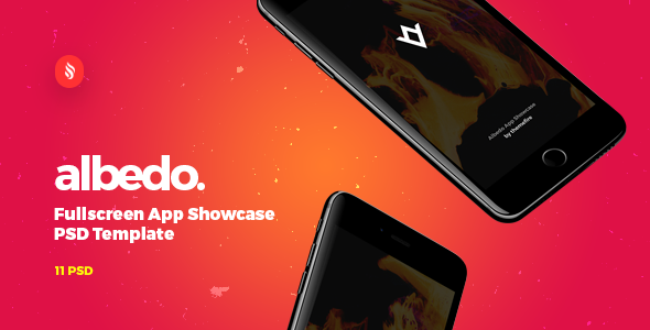 Albedo - Full Screen App Showcase PSD Template - Creative PSD Templates