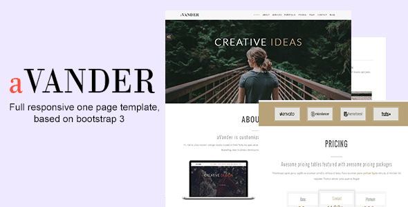 aVander – One Page Parallax Template