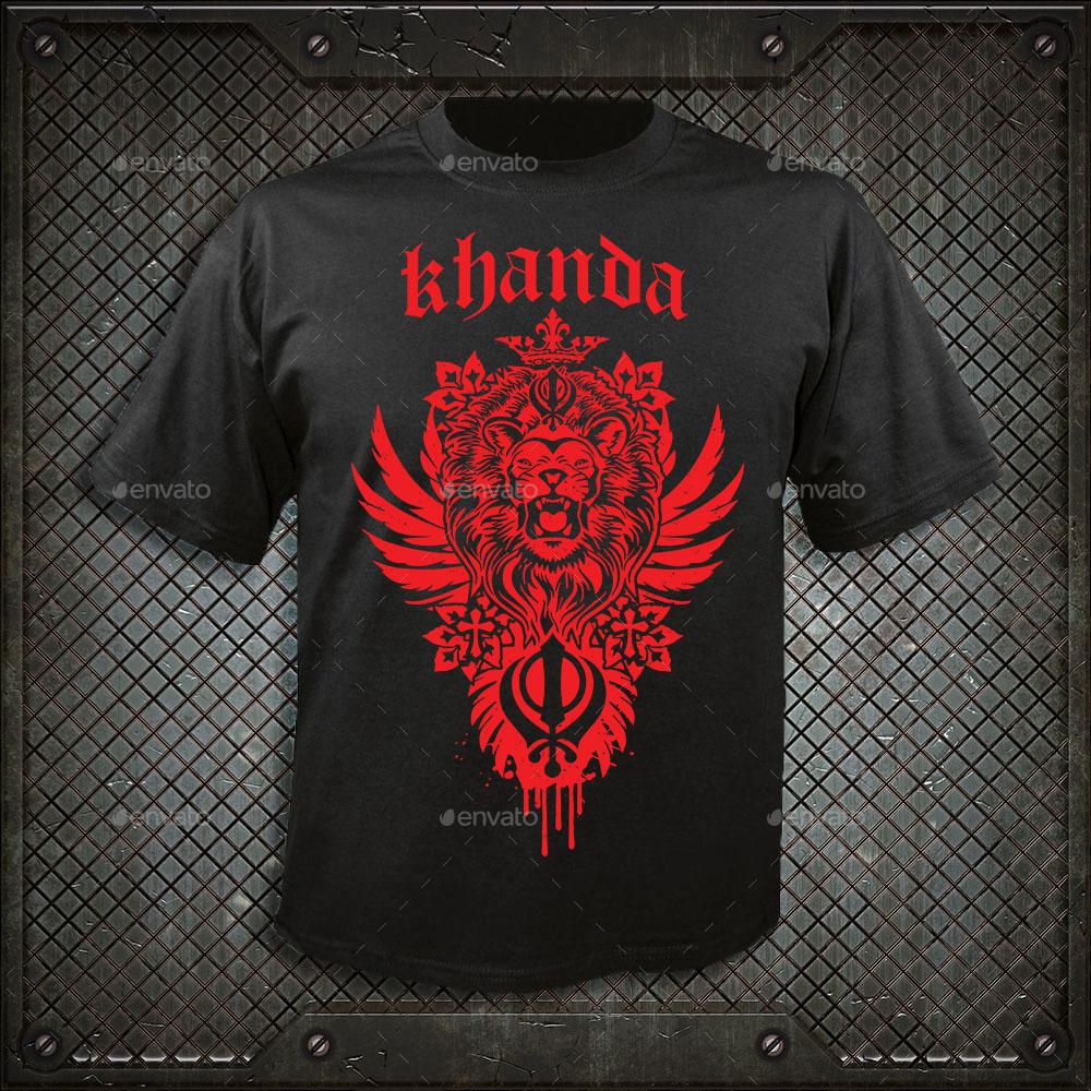 9ed92c3eb Khanda Lion - T-Shirts. image preview set/khanda blue.jpg image preview set/ khanda grey.jpg ...