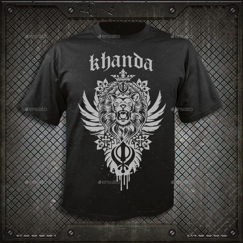 9e2b964c Khanda Lion - T-Shirts. image preview set/khanda blue.jpg image preview set/ khanda grey.jpg image preview set/khanda red.jpg ...