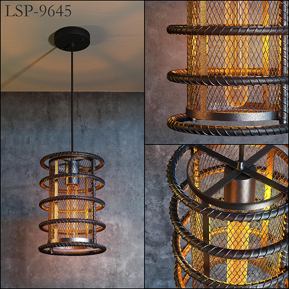 Lussole Loft LSP-9645 lamp - 3DOcean Item for Sale