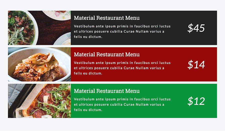 Restaurant Food Menus For Visual Composer By Unitecms | Codecanyon