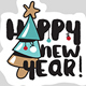 Christmas and New Year's Social Media Stickers - GraphicRiver Item for Sale