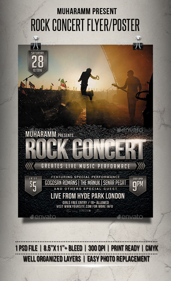 Rock Concert Flyer / Poster - Events Flyers