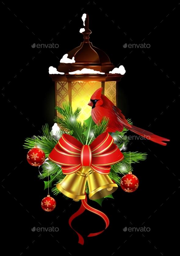Christmas Decoration with Street Light - Christmas Seasons/Holidays