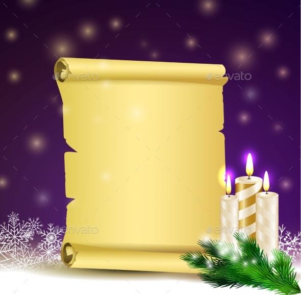 Old Scroll Paper - Christmas Seasons/Holidays