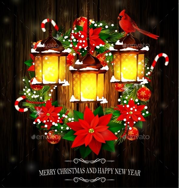 Christmas Decoration with Street Lights - Christmas Seasons/Holidays