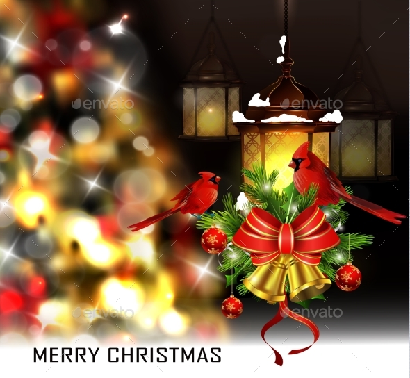 Christmas Tree Light Background - Christmas Seasons/Holidays