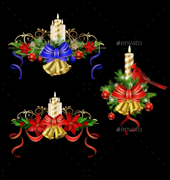 Christmas Elements for Your Designs - Christmas Seasons/Holidays