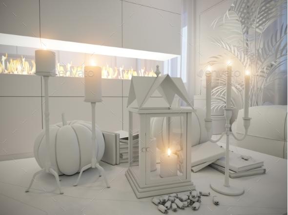 3D Render of Interior Design Living Room - Architecture 3D Renders