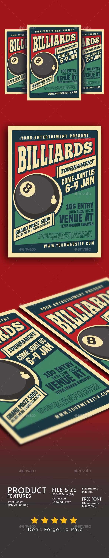 Billiard Tournamet Flyer - Events Flyers