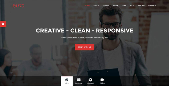 Ratio - Material Design Agency Template - Technology Site Templates