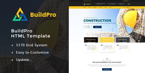 BuildPro - Construction HTML Templates