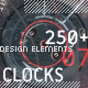 250+ Vector Clocks - VideoHive Item for Sale