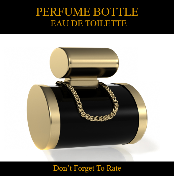 Perfume Bottle - Eau De Toilette - 3DOcean Item for Sale