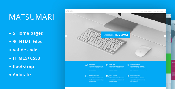 Matsumari – Creative Responsive Multi-Purpose HTML5 Template