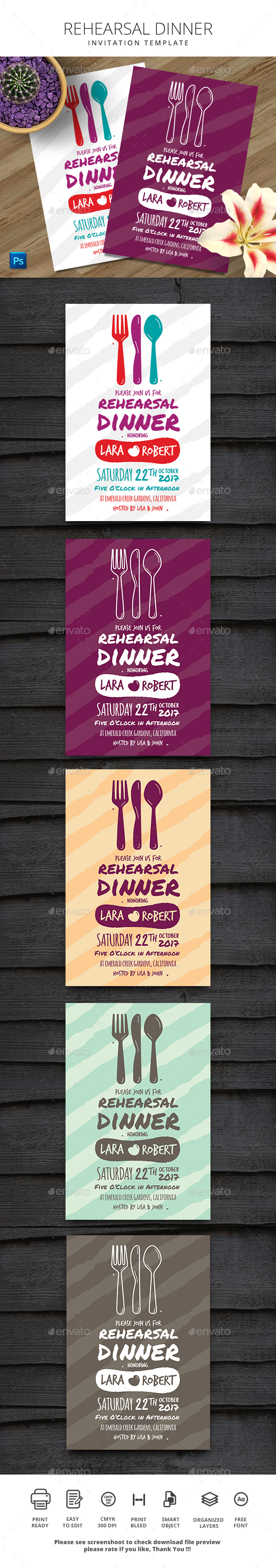 Rehearsal Dinner Invitation - Events Flyers