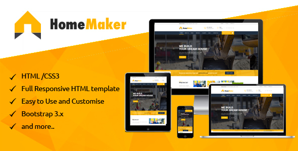 Home Maker – Construction & Building company HTML Template