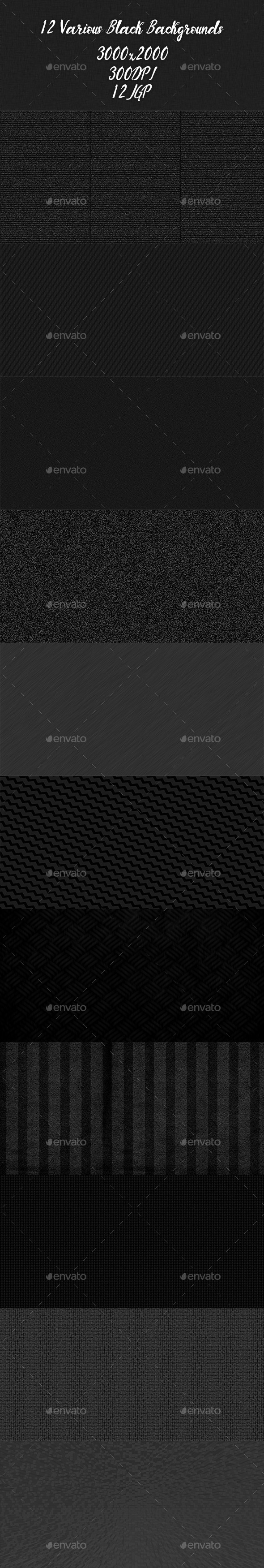 Various Black Backgrounds - Abstract Backgrounds