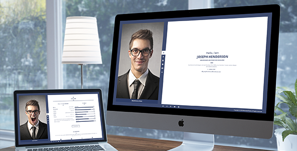 Henderson - vCard WordPress Theme - Portfolio Creative