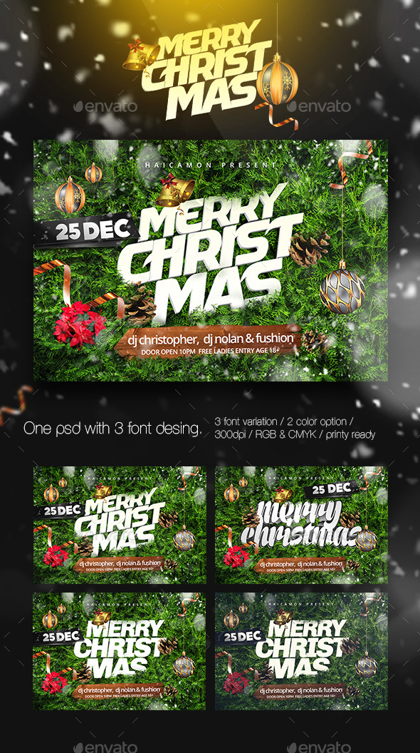 Christmas Party Flyer 2017 Vol.1