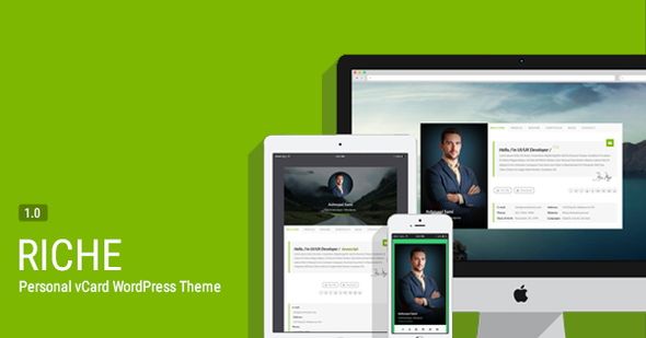 Riche - Personal vCard WordPress Theme